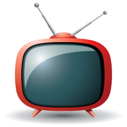 Television Icons 256×256 [PNG Files]