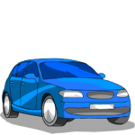 V icons - Vehicles - Blue Car 1_256x256-32
