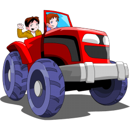 V icons Vehicles Tractor mirror 256x256 32 vector