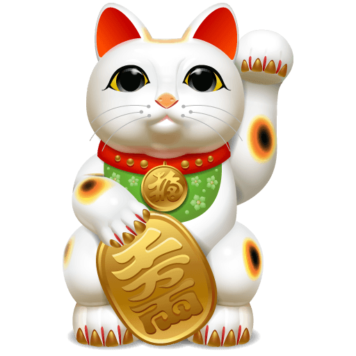 Japanese Cute Cat Icons 512×512 [PNG Files]