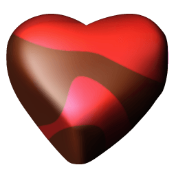 Chocolate Hearts Icons 256×256 [PNG Files]