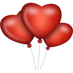 heart balloons vector