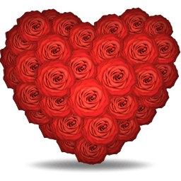roses heart vector