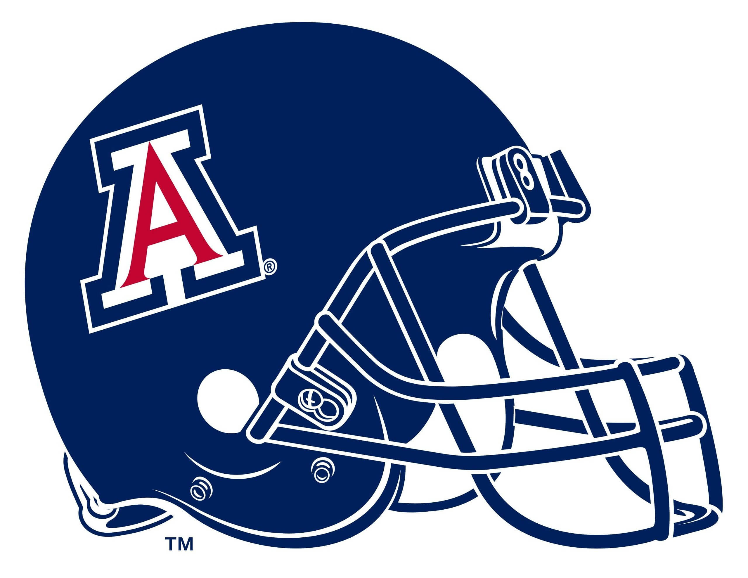 university of arizona football helmet vector eps free download logo rh freelogovectors net