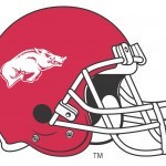 University of Arkansas Football Helmet