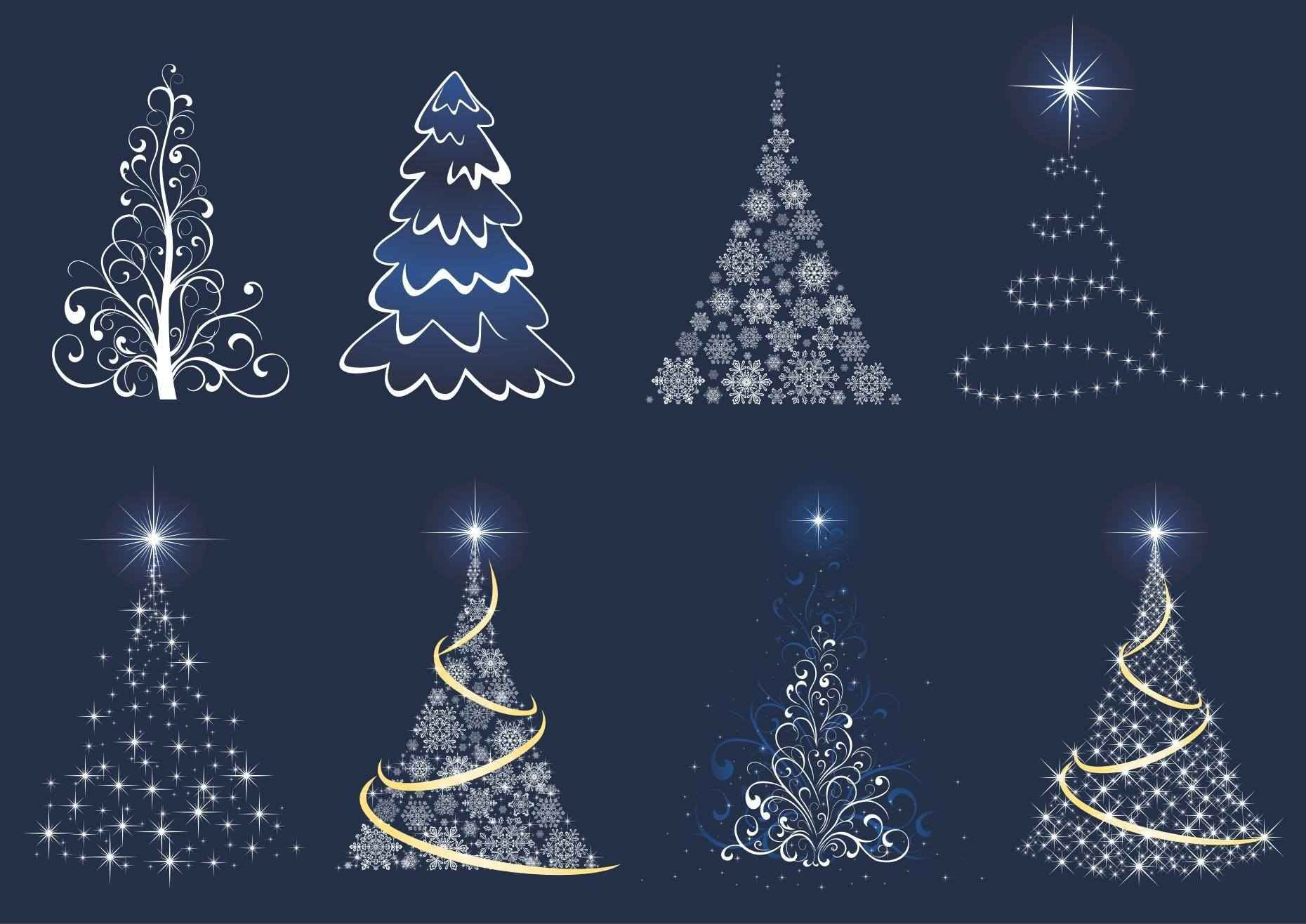 Abstract Christmas Tree Set png