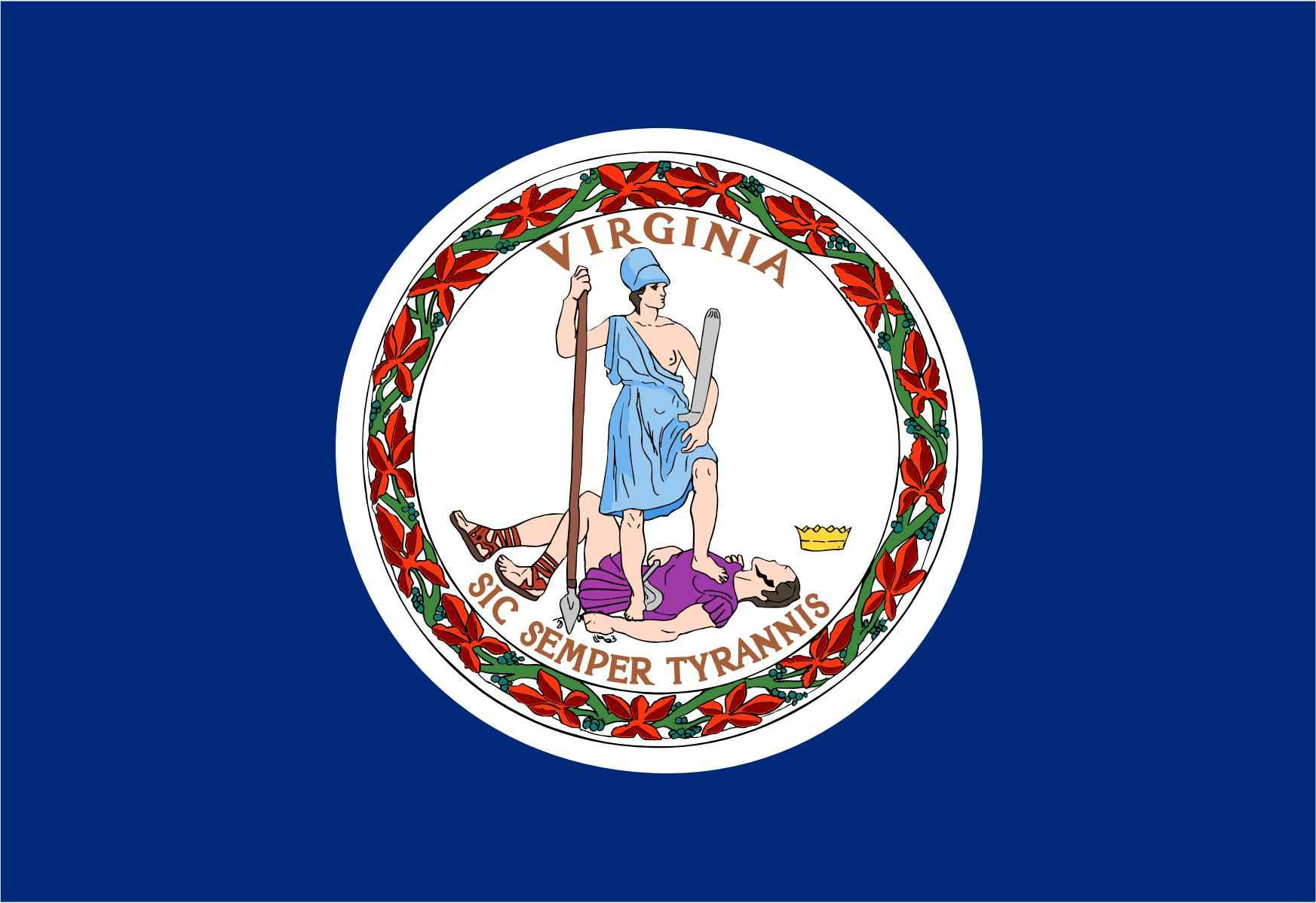 Virginia State Flag and Seal png