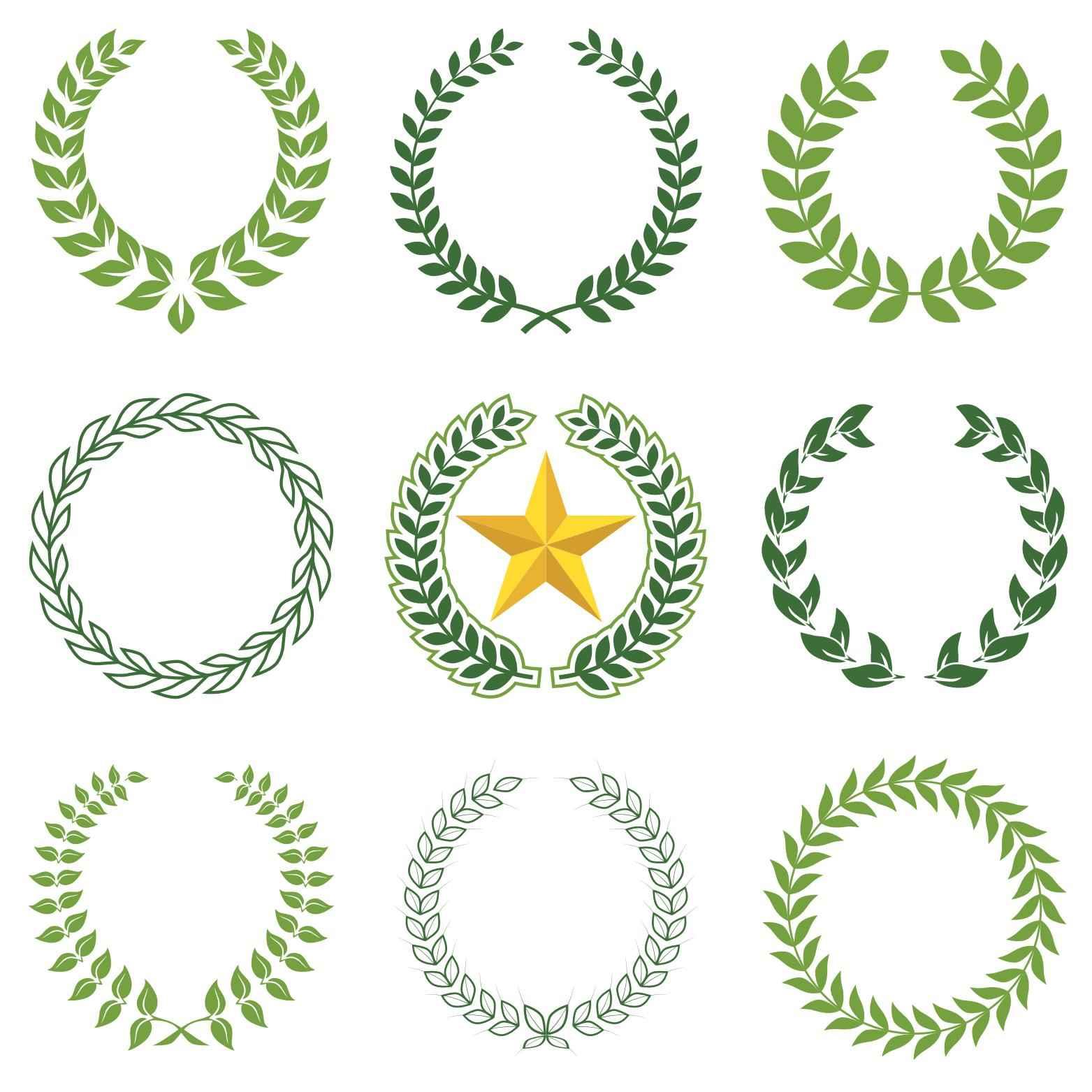 Laurel Wreaths png