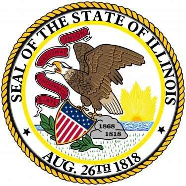 Illinois State Flag and Seal png