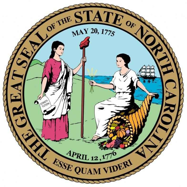 North Carolina State Flag and Seal png