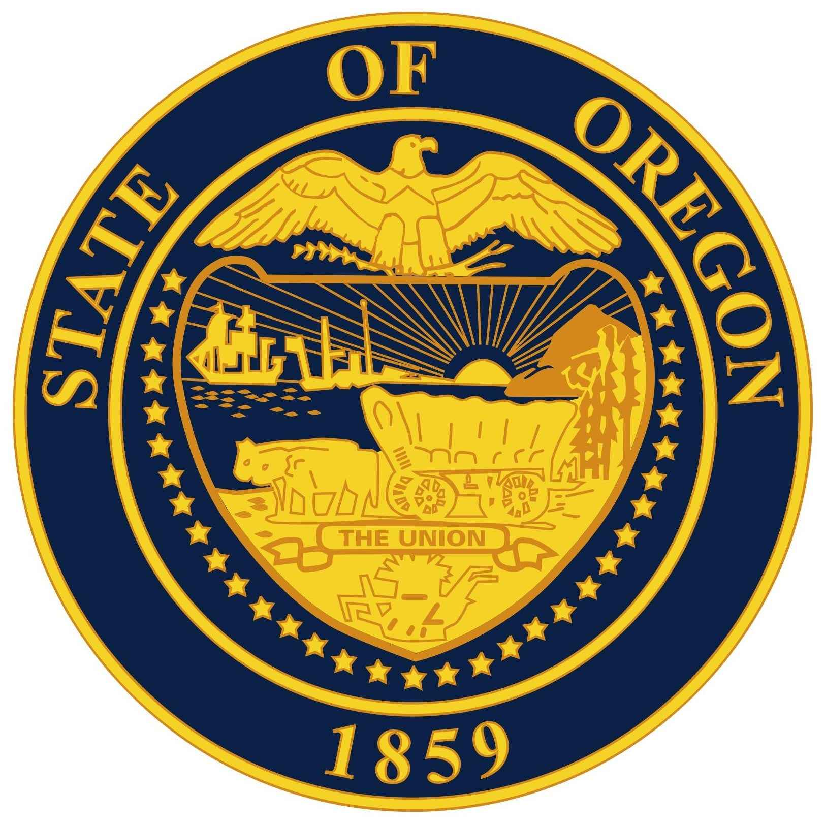 Oregon State Flag and Seal png