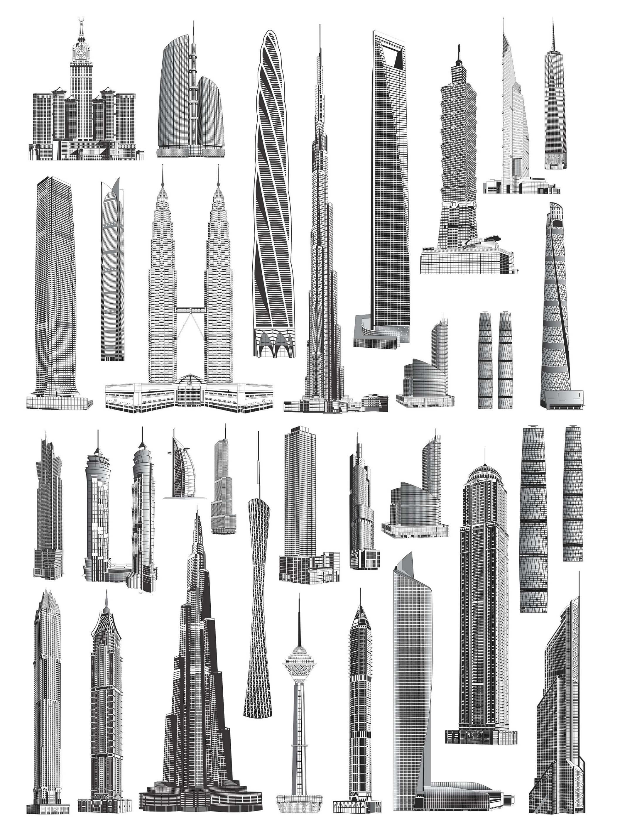 Skyscrapers_vectors_01