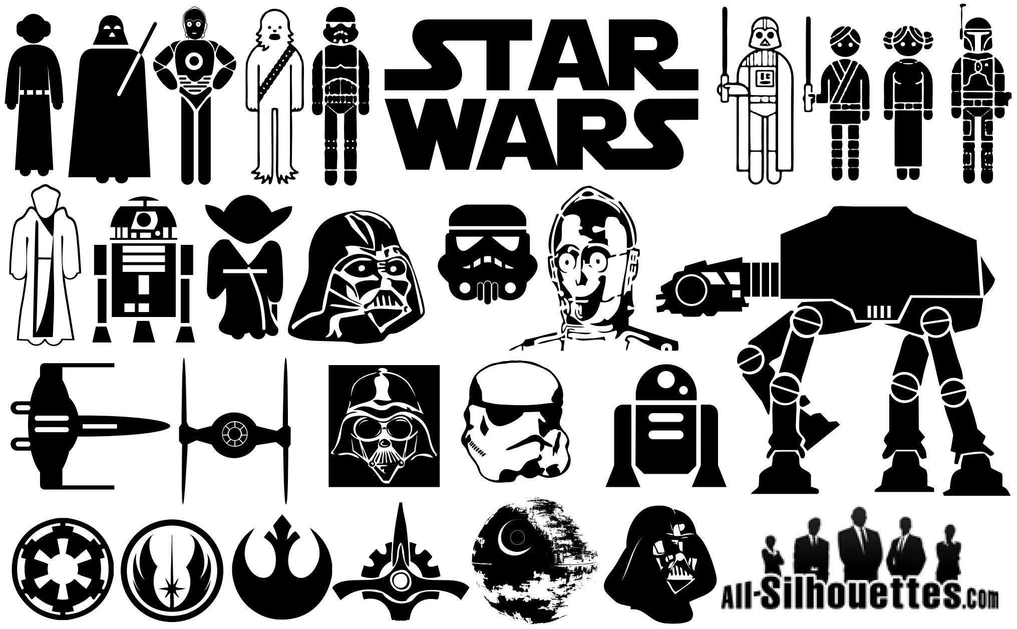 Star wars symbol silhouettes vector eps free download logo icons starwarssymbolsilhouettes biocorpaavc Images