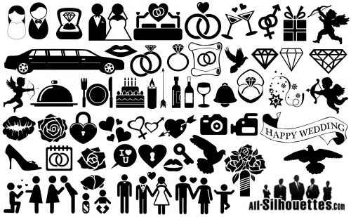 Wedding_Icons_Symbols_Silhouette
