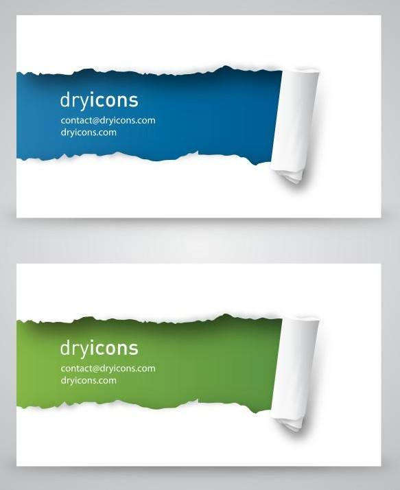 Ripped Business Cards png