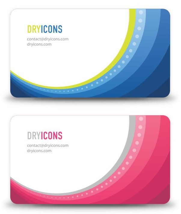 Abstract Business Cards png