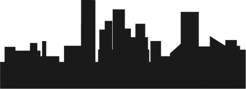 City Skyline Silhouette 03 png