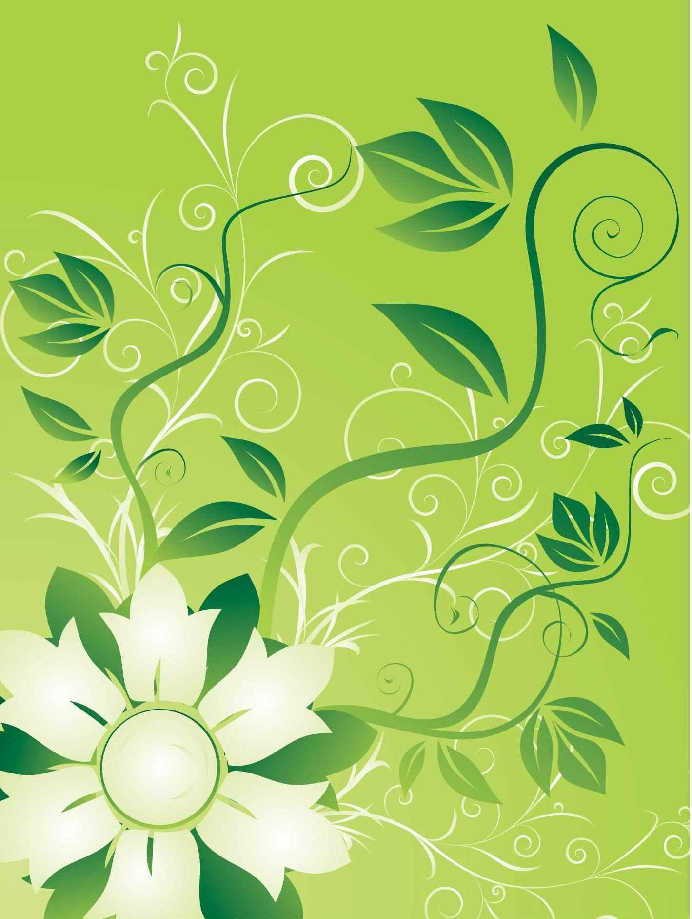 Flowers and Swirls png