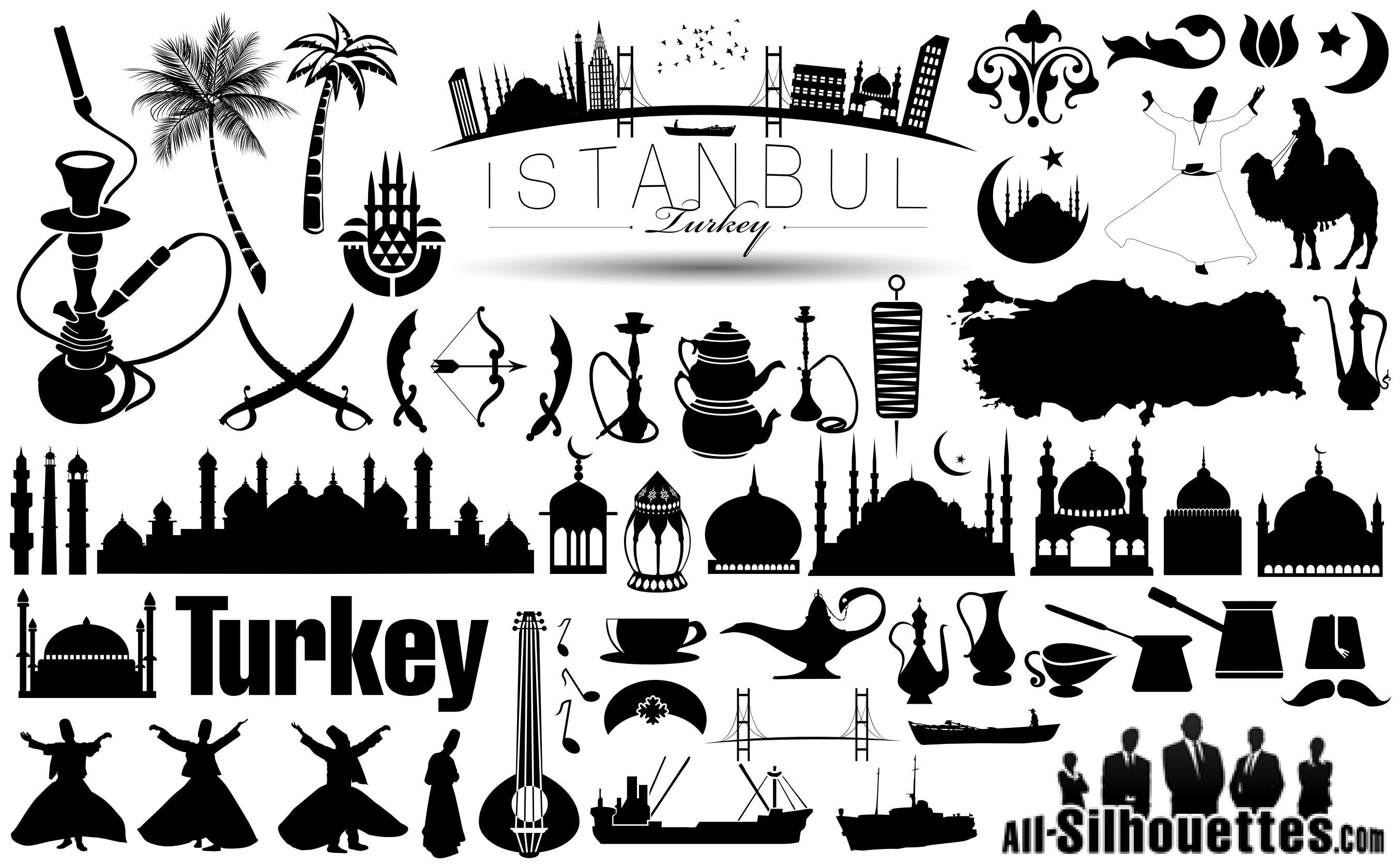 turkey_istanbul_vector_icons