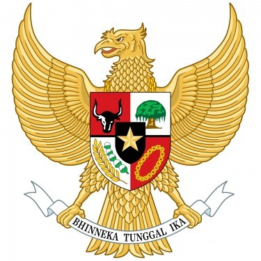 Indonesia Flag and Emblem [Indonesian] png