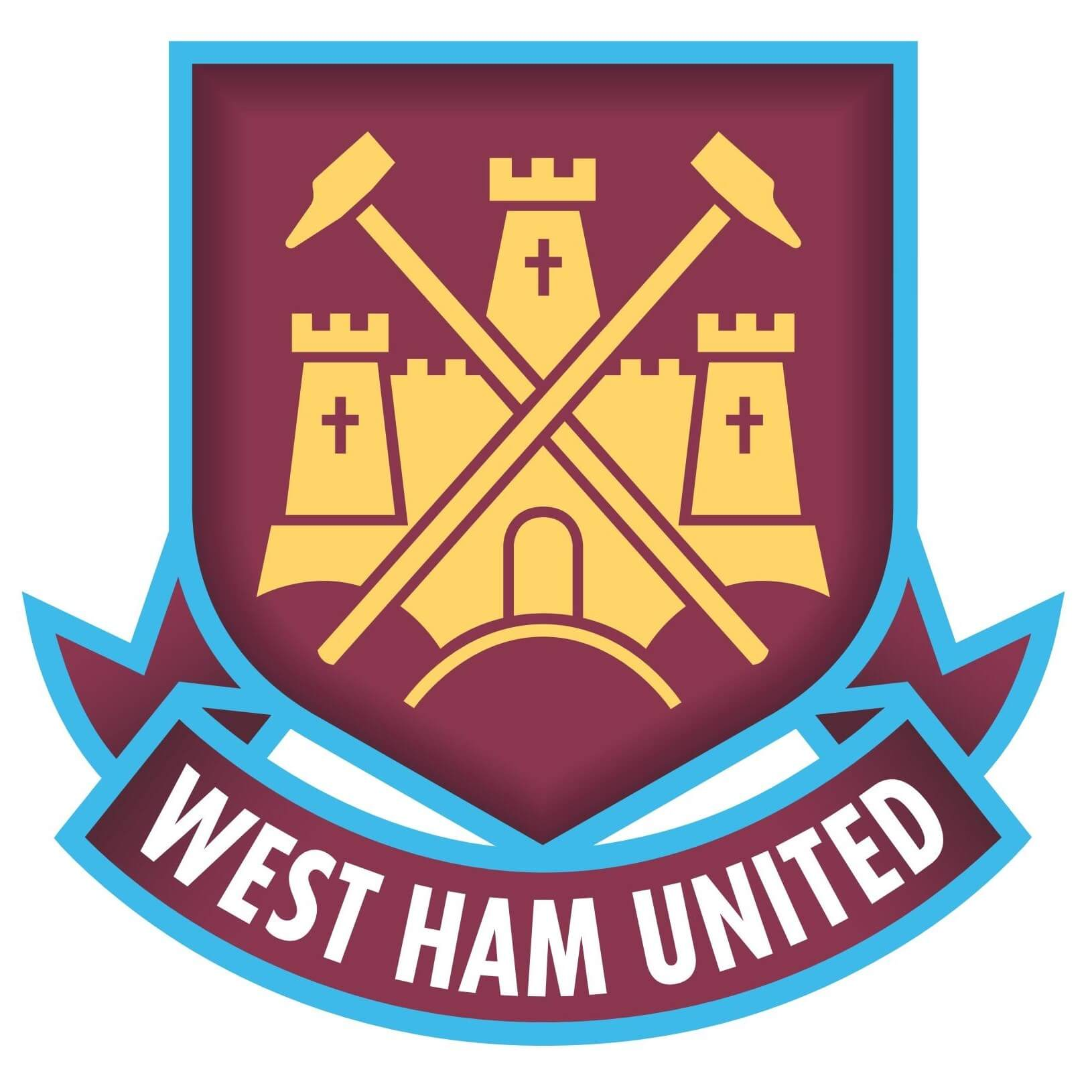 West Ham United Football Club Logo [whufc.com] png
