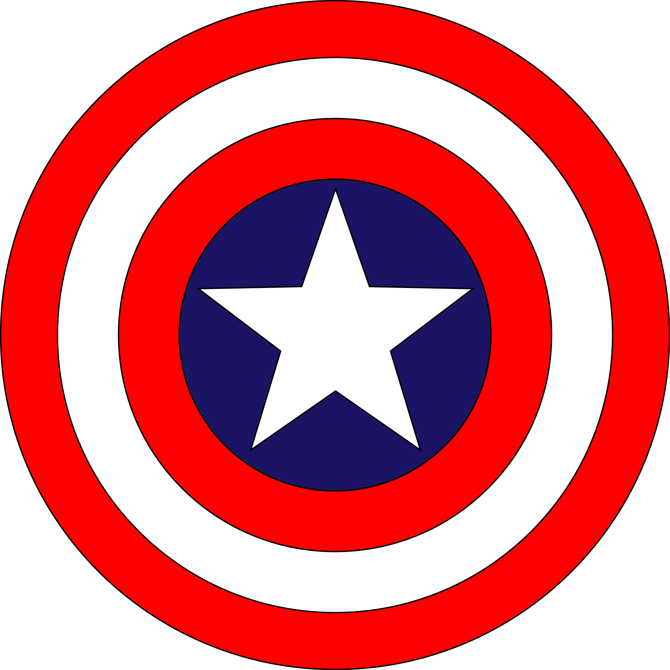 Captain America Logo [Shield] png