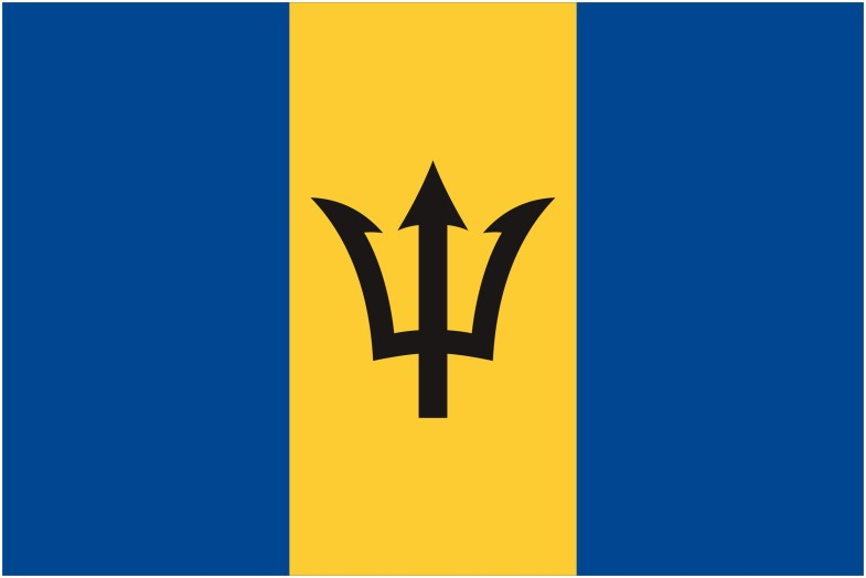 Barbados Flag png