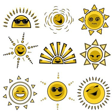 Cartoon-sun-avatar-expression