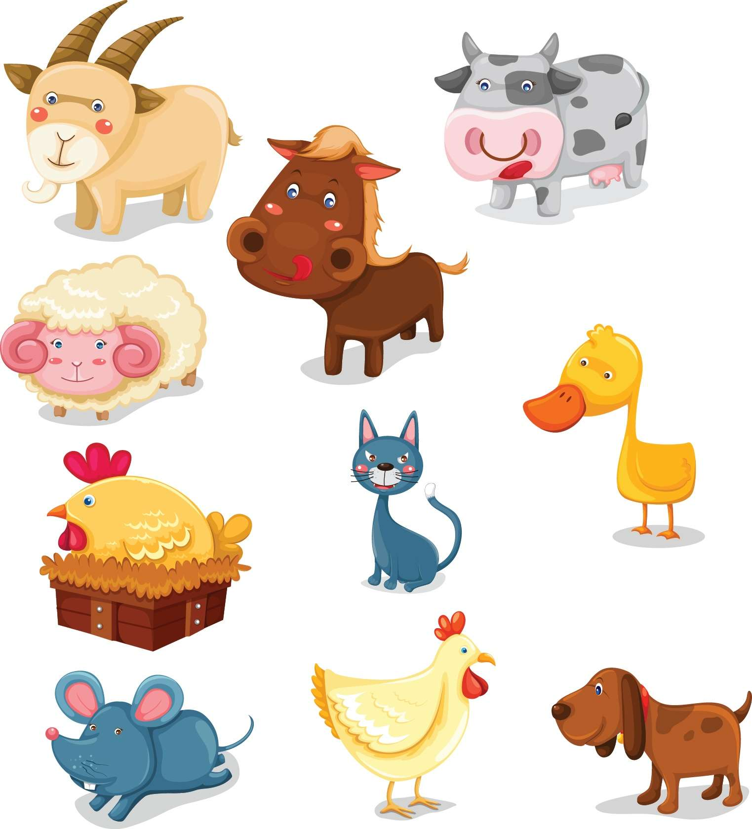 Cute cartoon animals 02 png