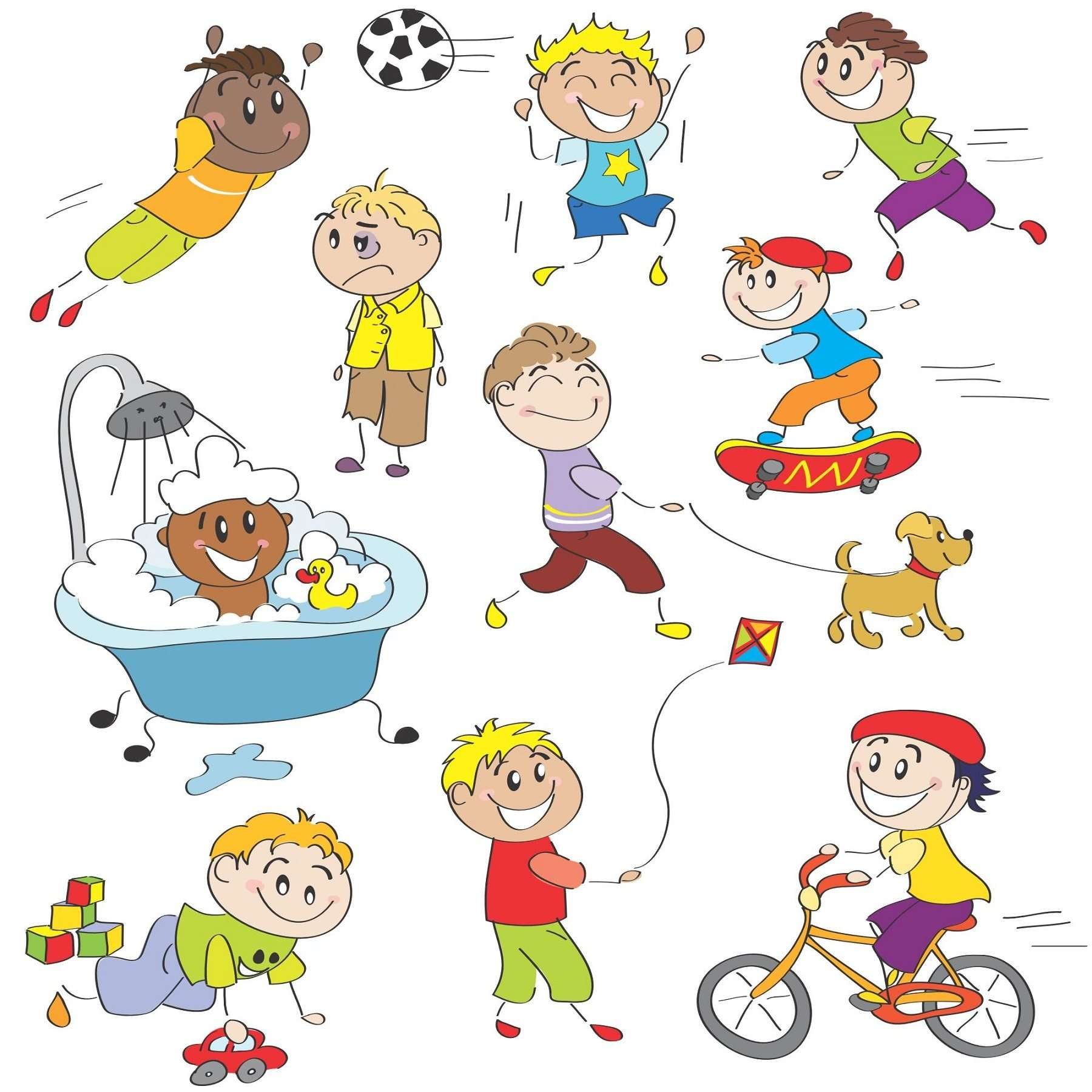 cartoon children kids people 06 vector eps free download logo