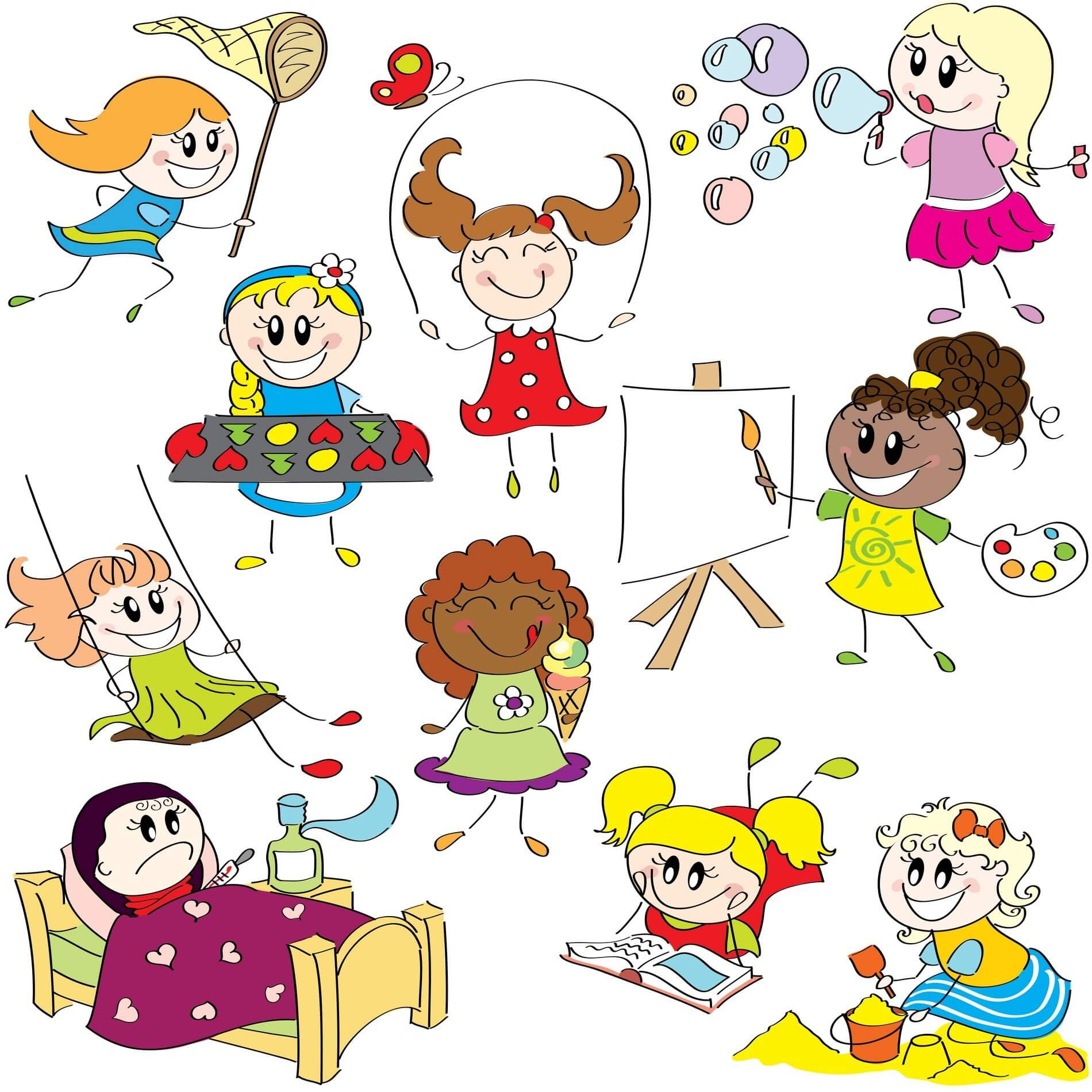 Cartoon Children, Kids, People 07 png