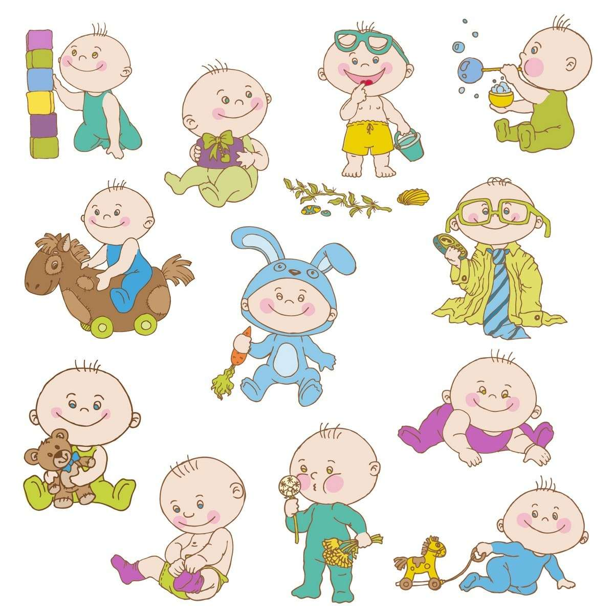 Cartoon Baby, Children, Kids 03 png