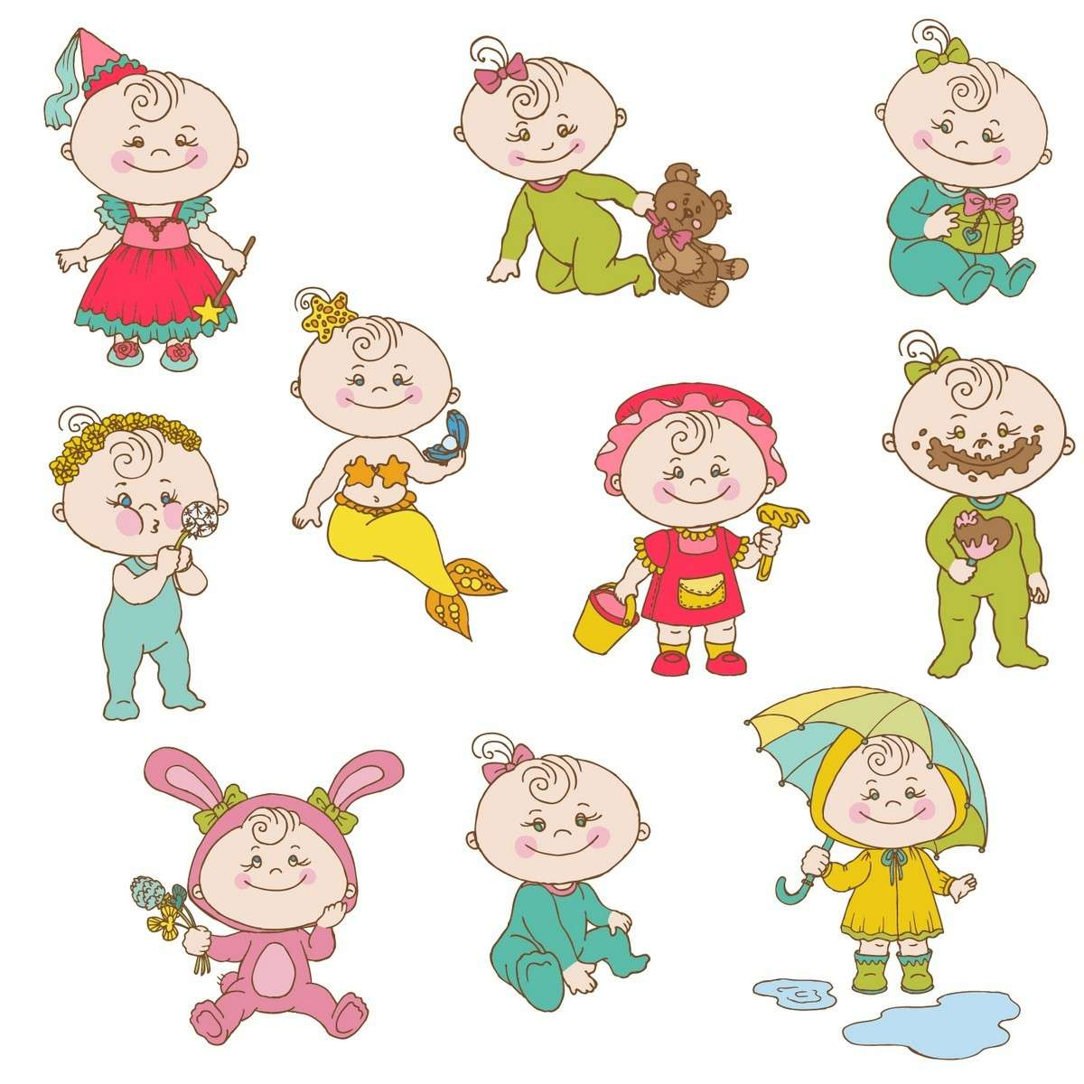 Cartoon Baby, Children, Kids 05 png