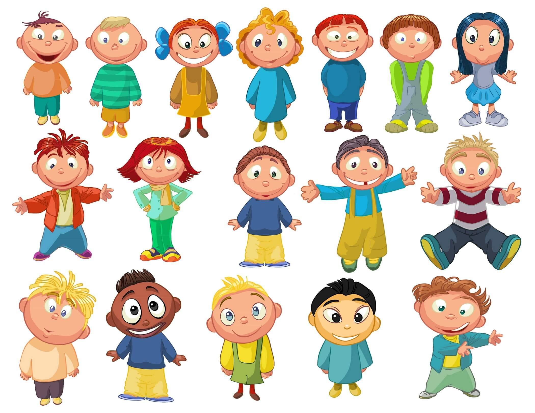 cartoon kids3 - Toddler Cartoon Characters