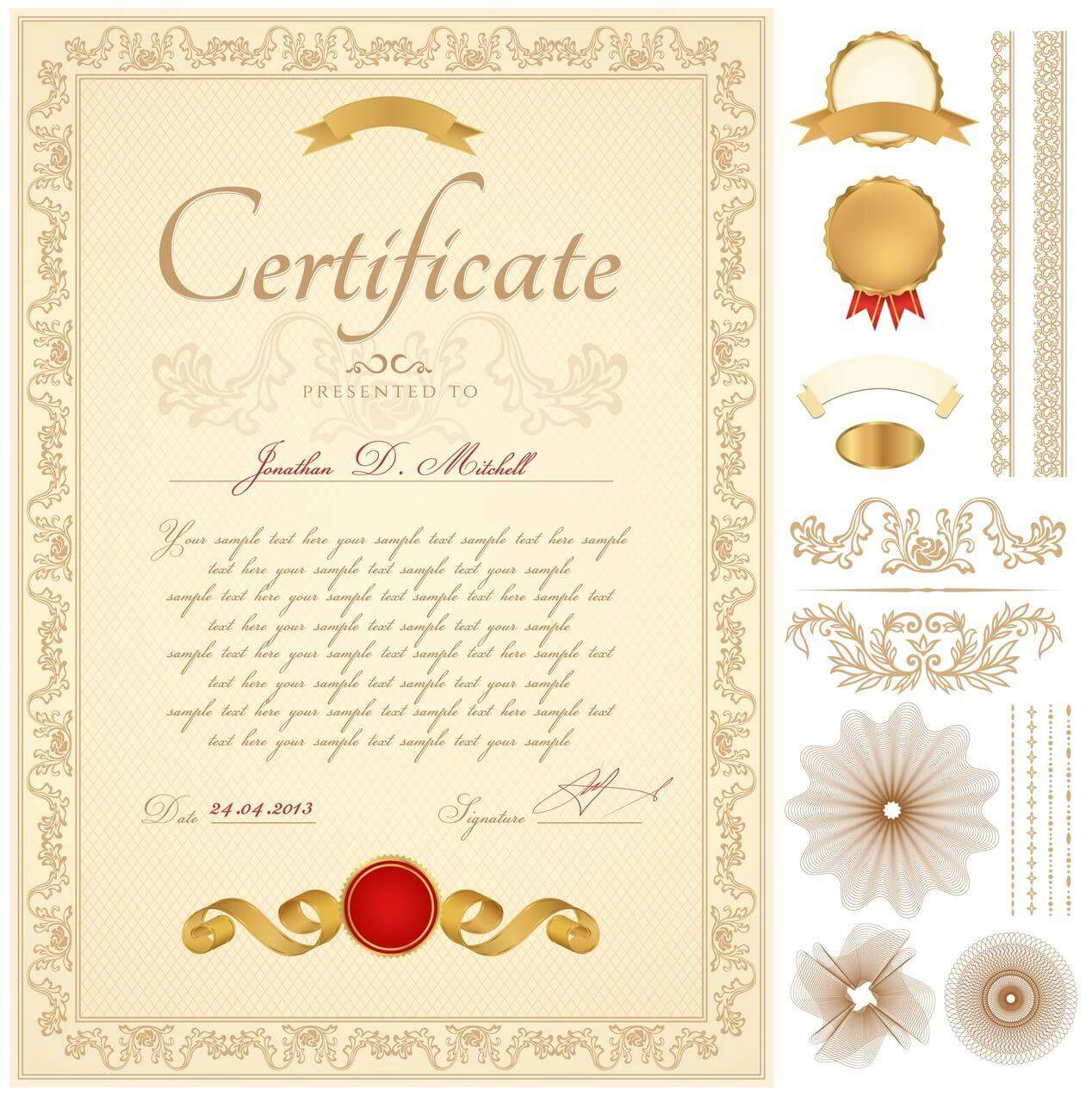 Certificate template 03 vector eps free download logo icons clipart certificate02 xflitez Gallery