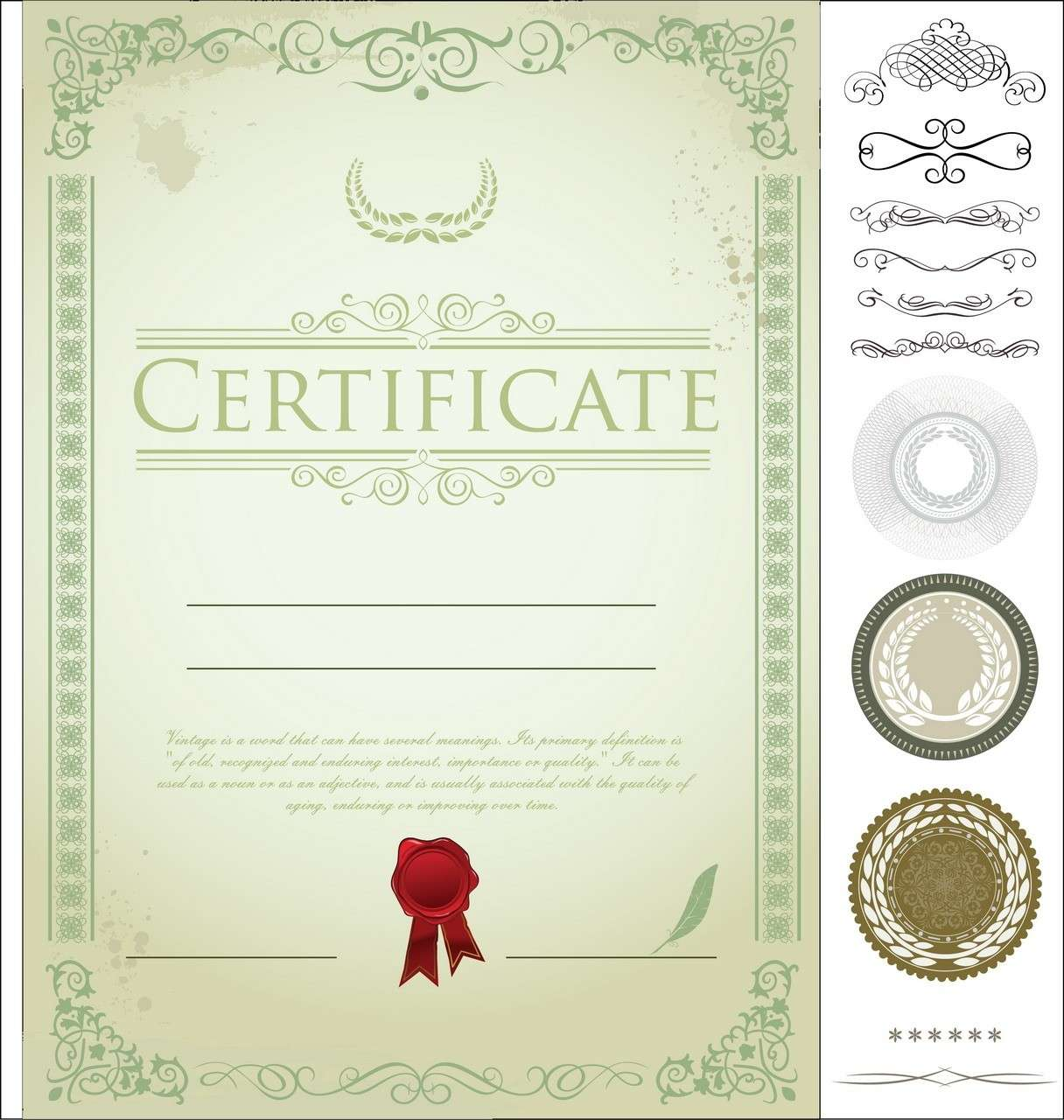 Certificate Template 04 png