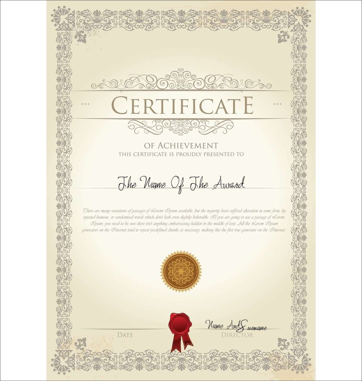 Certificate template 05 vector eps free download logo icons clipart certificate04 yadclub Choice Image