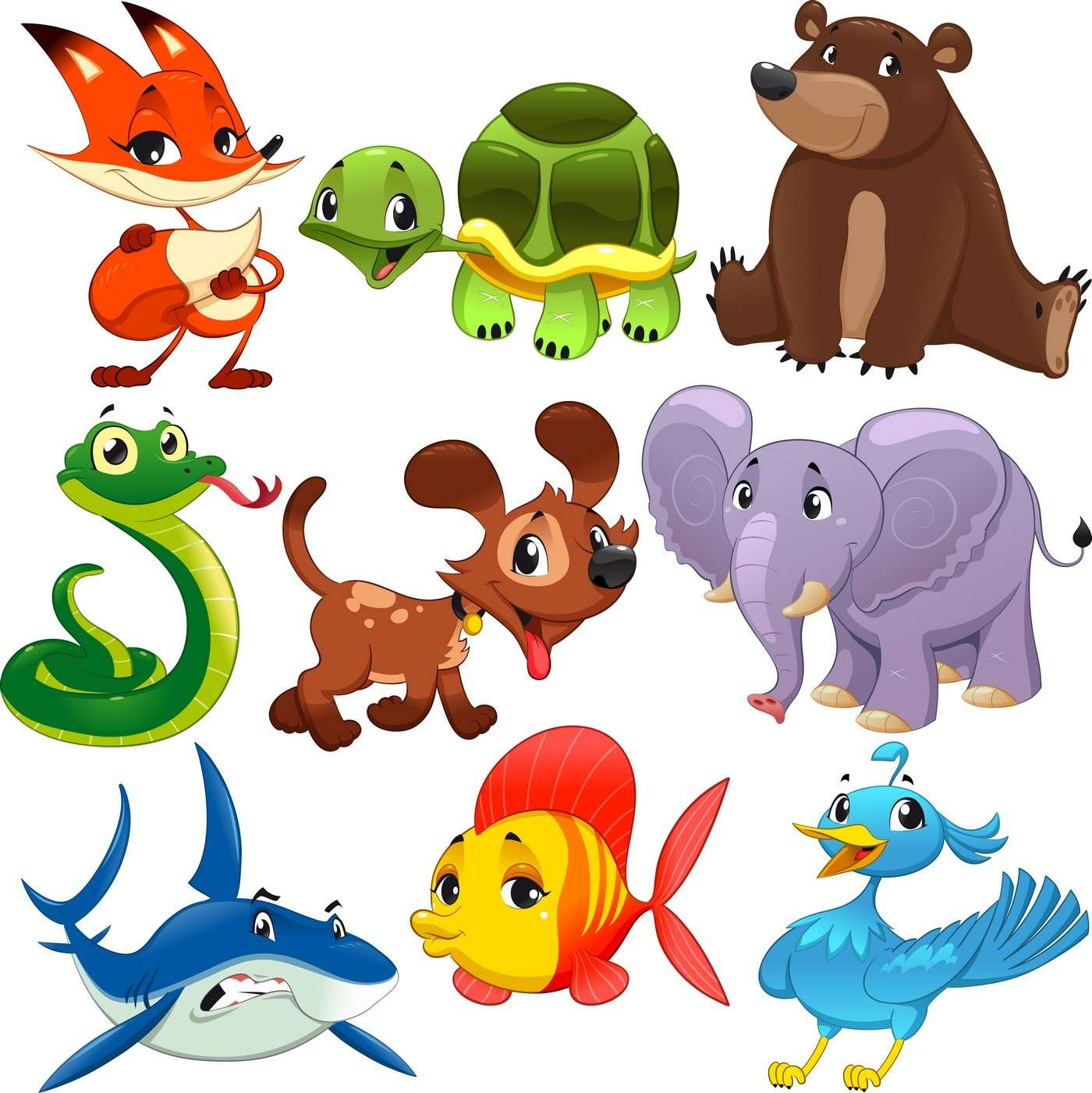 Cute Cartoon Animals 06 png