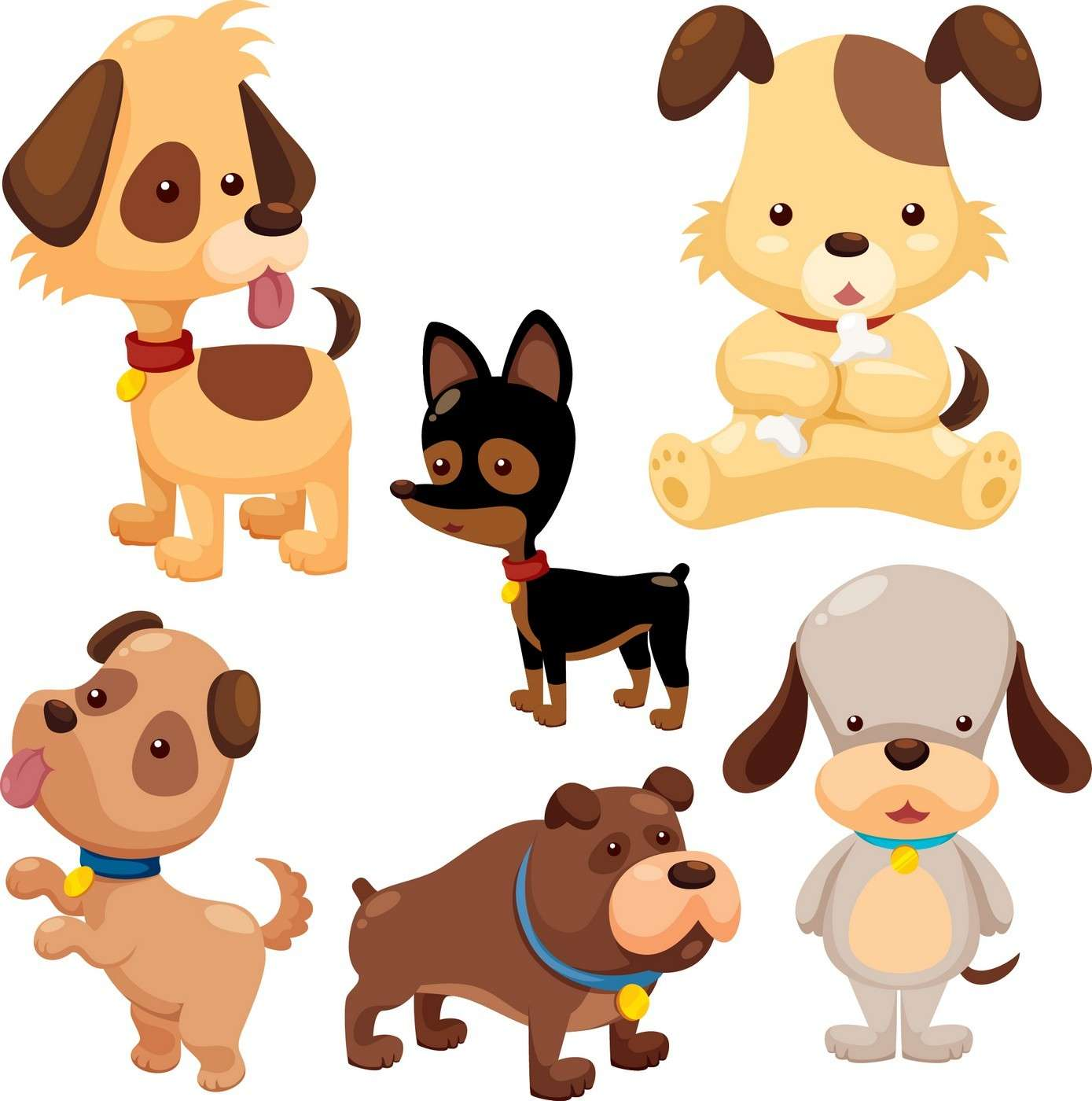 Cute Cartoon Animals, Dog png