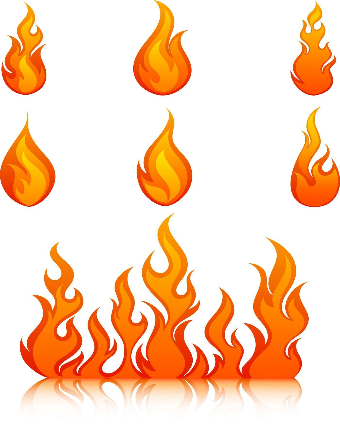 Flame, Fire 03 png