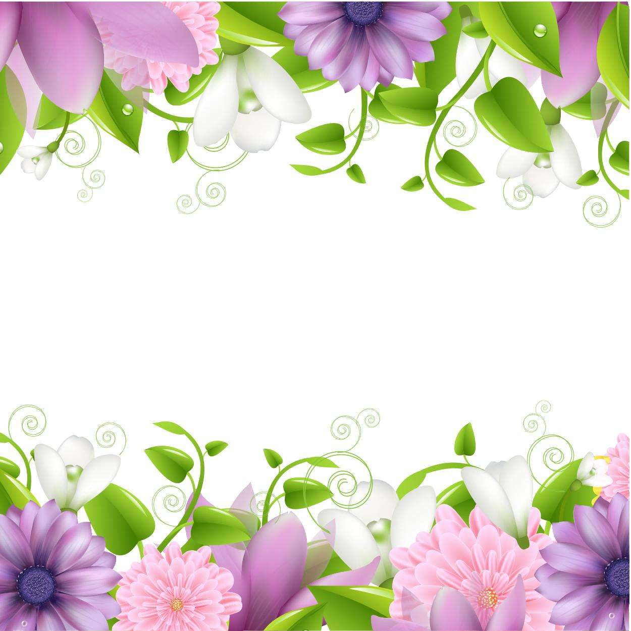 Flower Background, Corner, Frame png