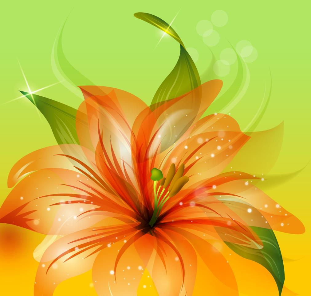 Flower Background 06 png
