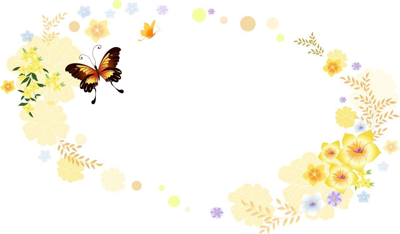 Flower Background, Frame 01 png