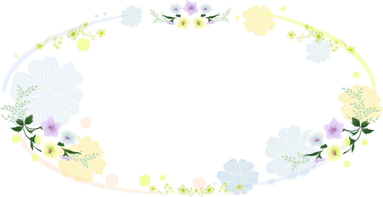 Flower Background, Frame 02 png