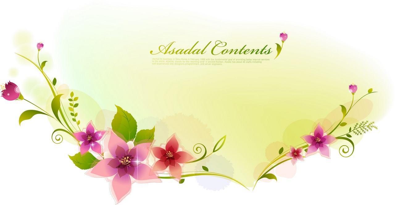 Flower Background, Frame 06 png
