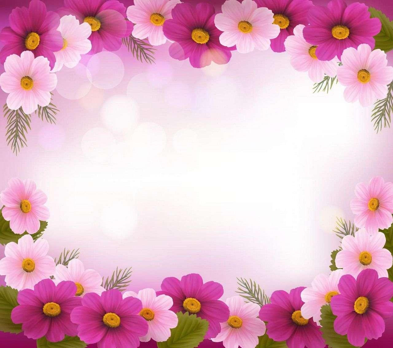 Flower Background, Frame 08 png