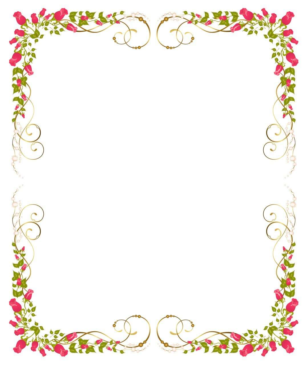 Flower Background, Frame 09 png