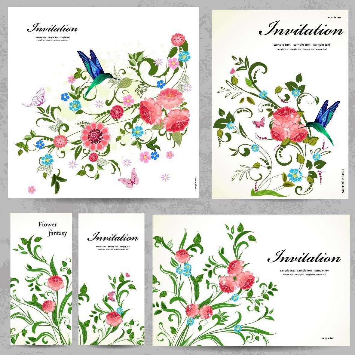 Floral Frame, Border Background, Flower Card png