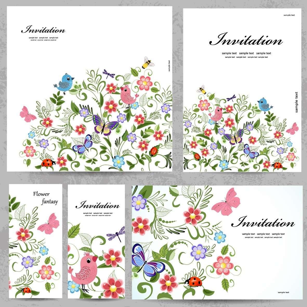 Floral Frame, Flower Card, Border Background png