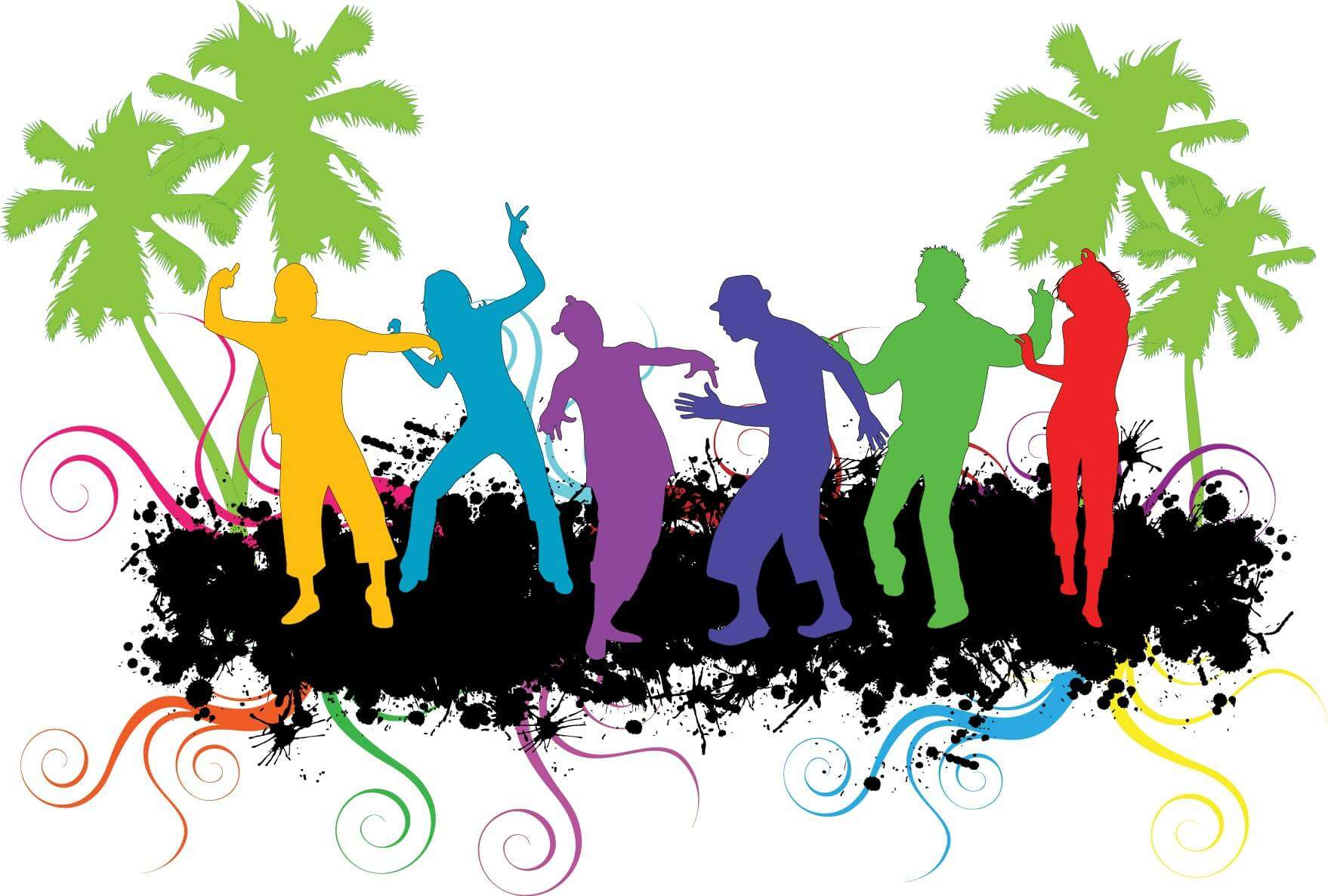 Party People Silhouette Vector Free Party People Silhouette